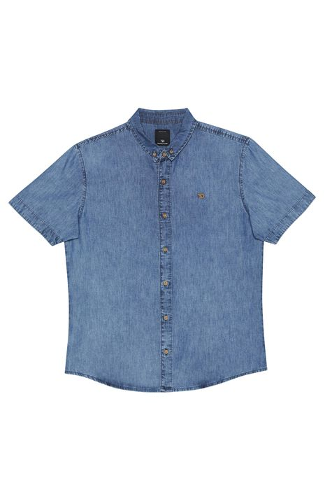 Camisa-Jeans-de-Manga-Curta-Detalhe-Still--