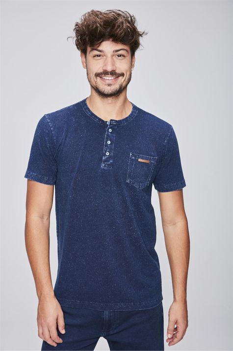 Camiseta-de-Malha-Denim-com-Bolso-Frente--