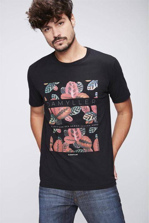 Camiseta-Estampa-Floral-Masculina-Frente--