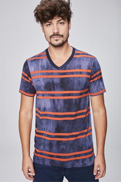 Camiseta-Tingida-Listrada-Masculina-Frente--