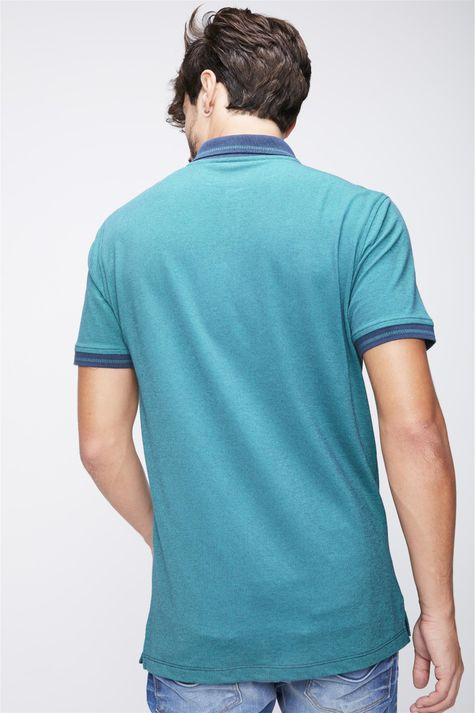 Camisa-Gola-Polo-Verde-Masculina-Costas--