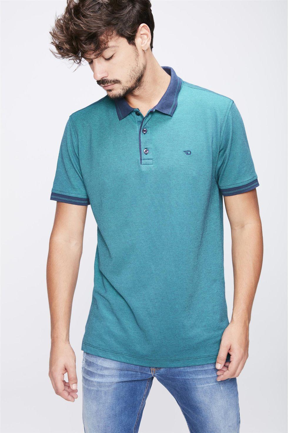 Camisa-Gola-Polo-Verde-Masculina-Frente--
