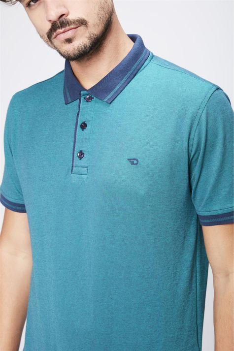Camisa-Gola-Polo-Verde-Masculina-Detalhe--