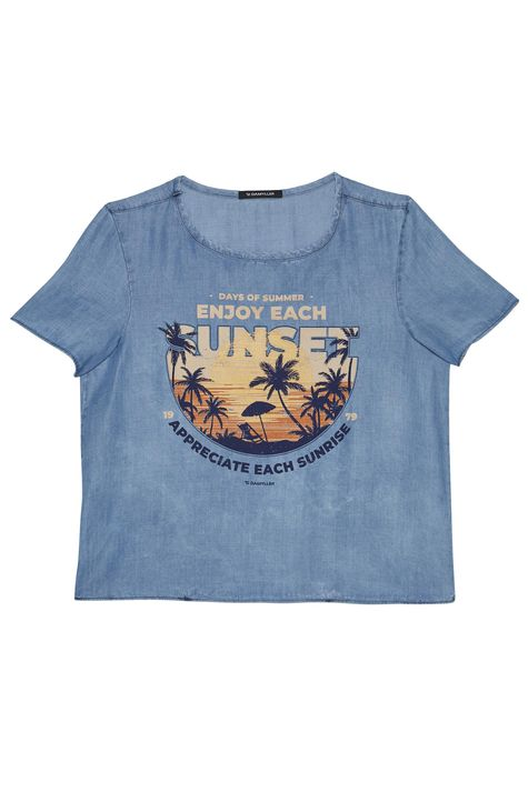 Camiseta-Jeans-com-Estampa-Tropical-Detalhe-Masculina--