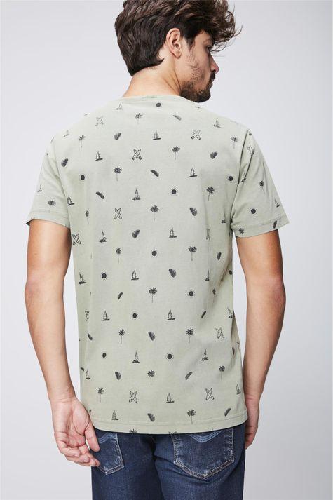 Camiseta-Estampa-de-Repeticao-Masculina-Costas--