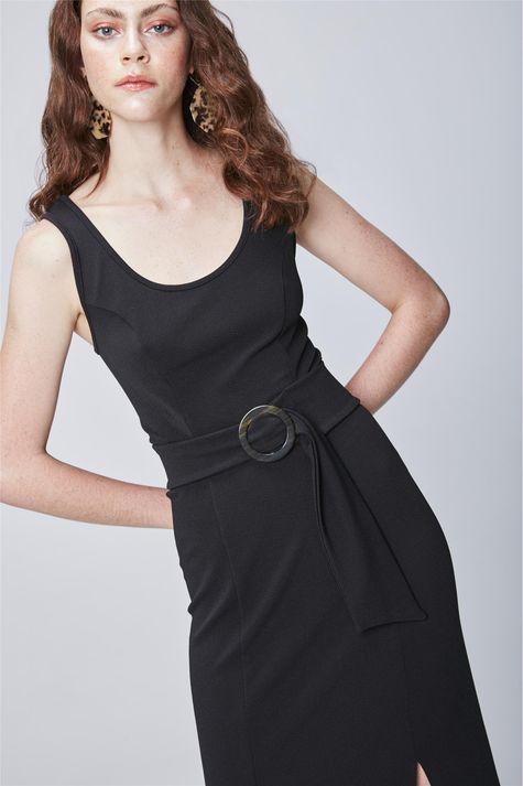 Vestido-Midi-com-Fenda-e-Cinto-Detalhe--