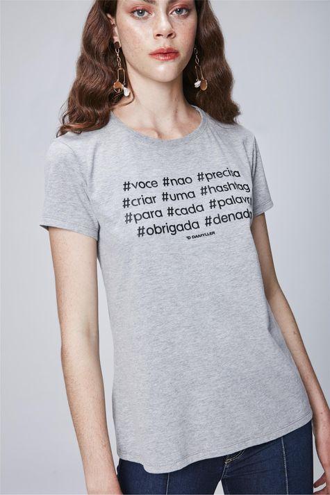 Camiseta-com-Estampa-de-Hashtag-Feminina-Frente--