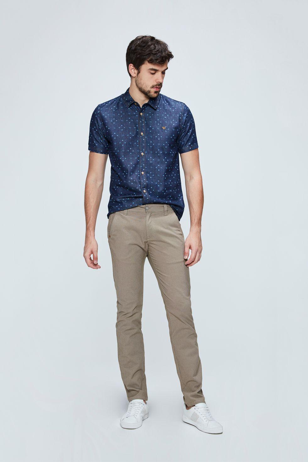 Calca-Chino-Color-com-Textura-Masculina-Frente--
