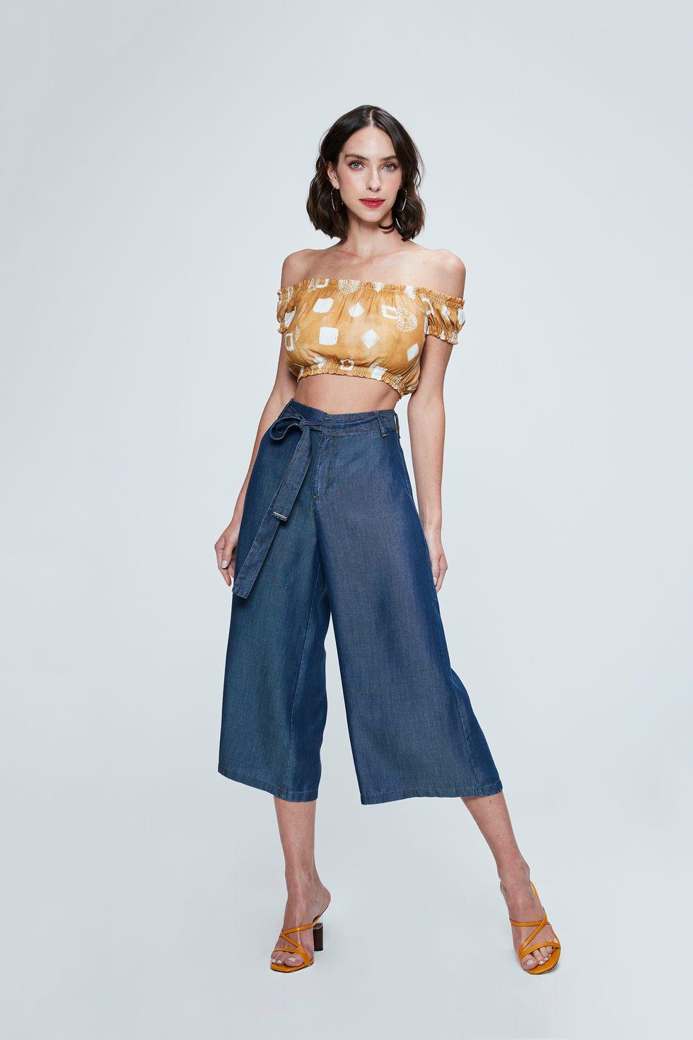 Pantacourt-Jeans-com-Amarracao-Feminina-Frente--