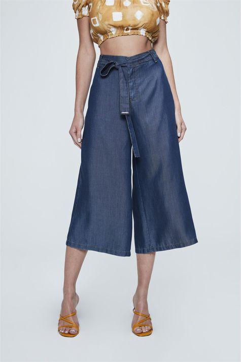 Pantacourt-Jeans-com-Amarracao-Feminina-Frente-1--