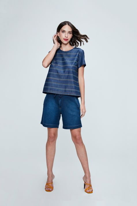 Camiseta-Jeans-Listrada-Feminina-Detalhe-1--