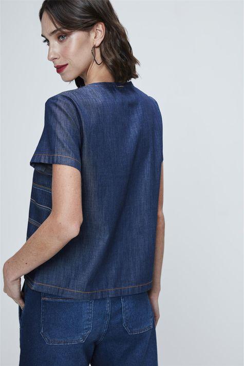 Camiseta-Jeans-Listrada-Feminina-Costas--