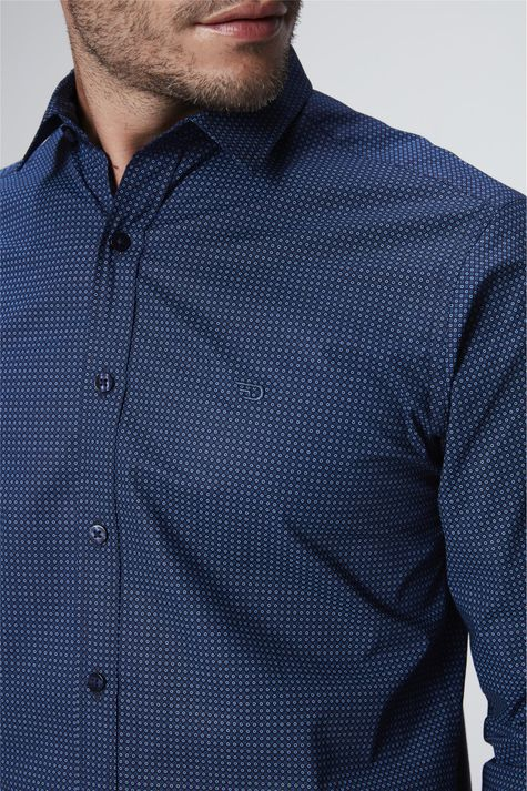 Camisa-Social-com-Estampa-de-Bolinhas-Detalhe--