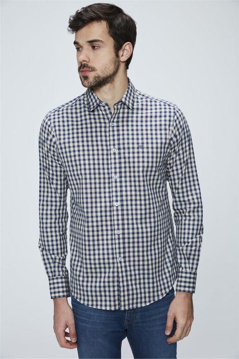 Camisa-Social-de-Algodao-Peruano-Xadrez-Frente--