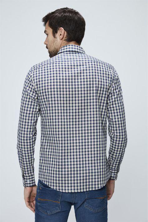 Camisa-Social-de-Algodao-Peruano-Xadrez-Costas--