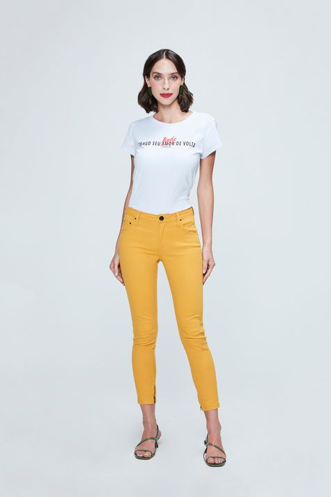 Calca-Jegging-Cropped-Mostarda-Frente--