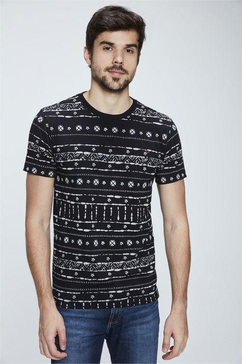 Camiseta-com-Estampa-Etnica-Masculina-Frente--