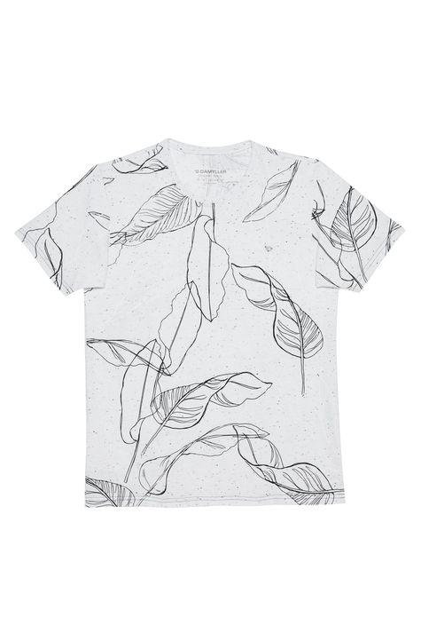Camiseta-com-Estampa-de-Folhas-Masculina-Detalhe-Still--