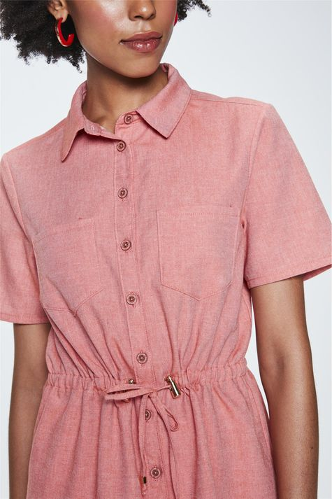 Camisa-Salmao-de-Manga-Curta-Feminina-Detalhe--