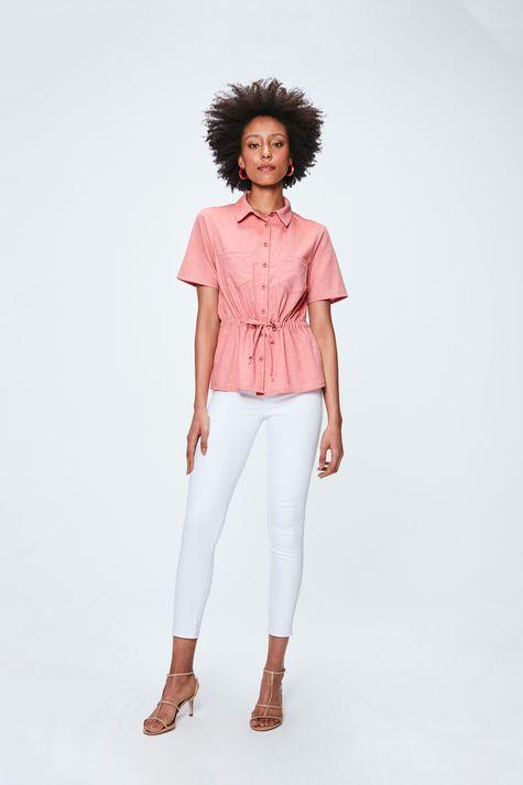 Camisa-Salmao-de-Manga-Curta-Feminina-Detalhe-1--