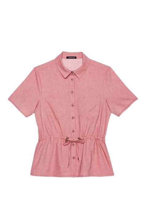 Camisa-Salmao-de-Manga-Curta-Feminina-Detalhe-Still--