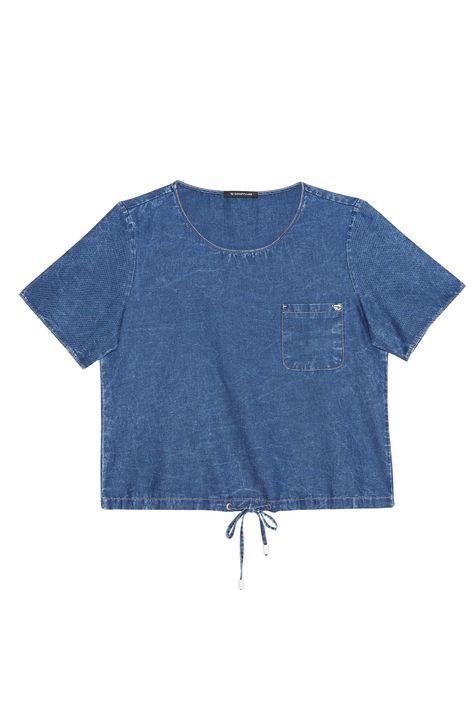 Camiseta-Jeans-Cropped-Feminina-Detalhe-Still--