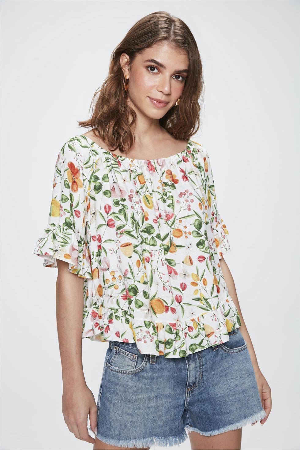 Bata-Ombro-a-Ombro-com-Estampa-Floral-Frente--
