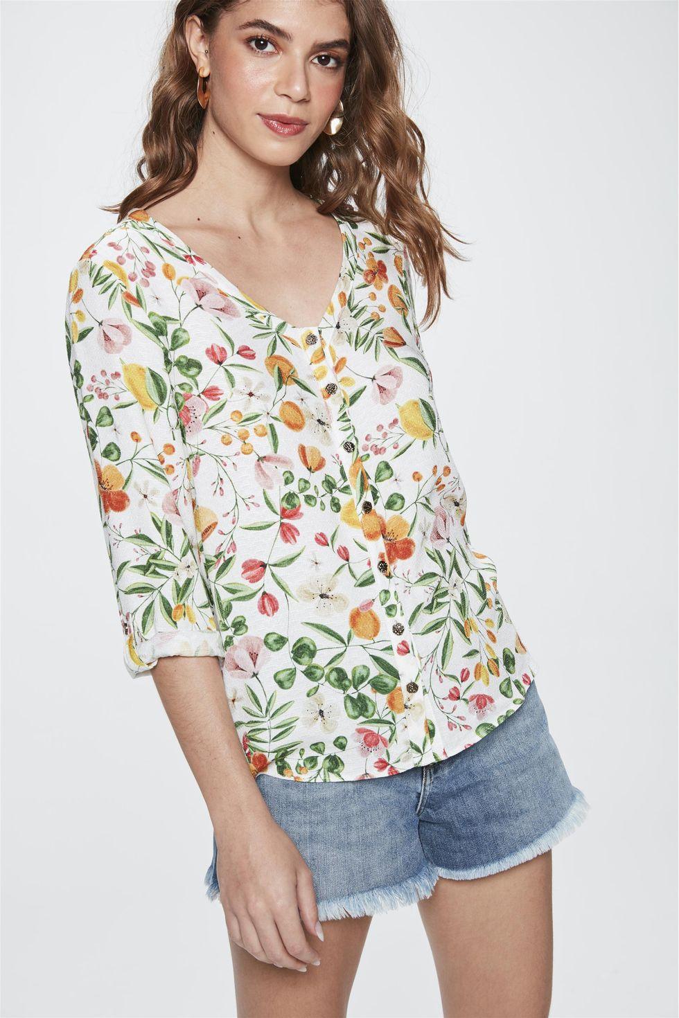 Camisa-com-Estampa-Floral-Feminina-Frente--