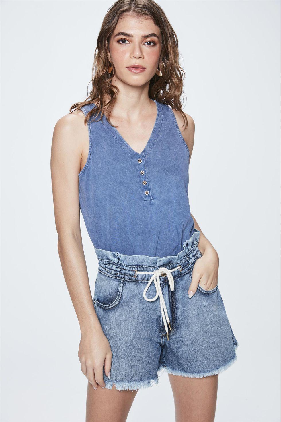 Short-Jeans-de-Cintura-Alta-Clochard-Frente--