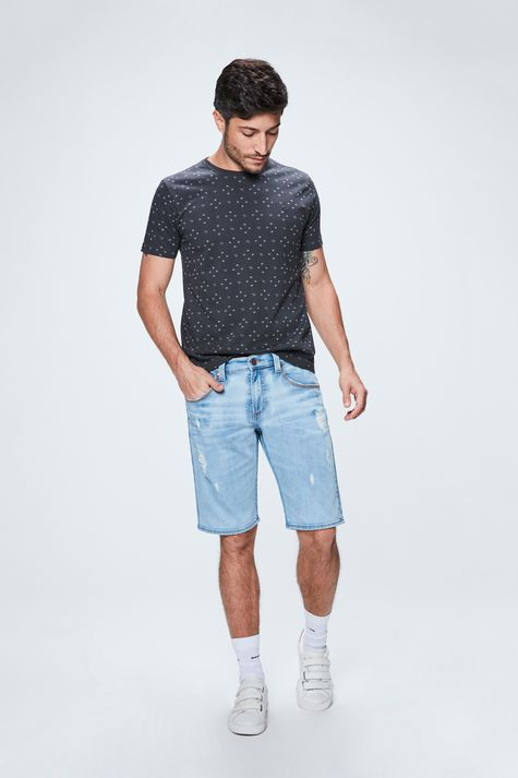 Bermuda-Jeans-Skinny-Destroyed-Masculina-Frente--