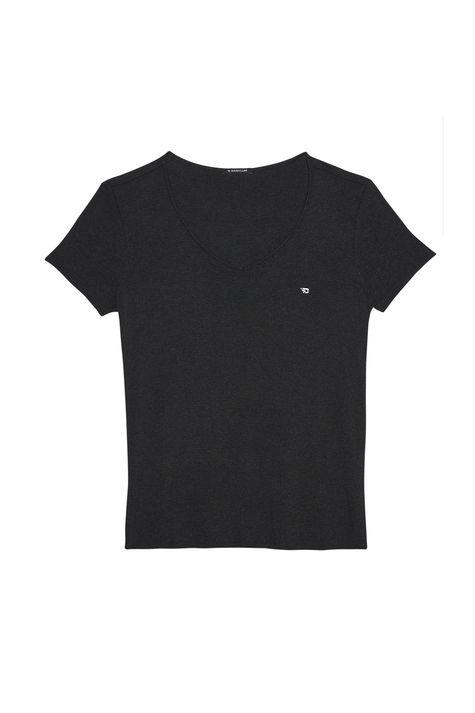 Camiseta-com-Decote-V-Feminina-Detalhe-Still--