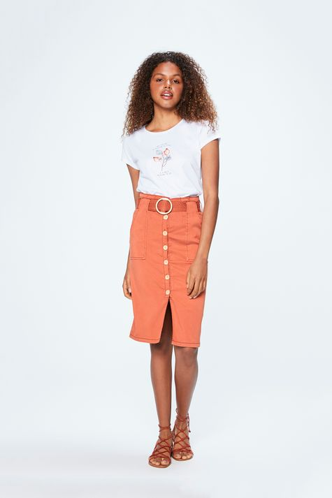 Camiseta-Feminina-com-Estampa-Metalizada-Detalhe-1--