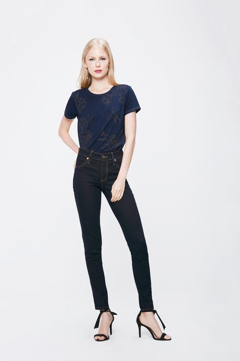 Calca-Cigarrete-Jeans-Escuro-Feminina-Detalhe-1--