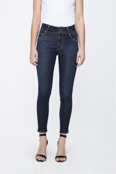 Calca-Jeans-Escuro-com-Cintura-Alta-Frente-1--