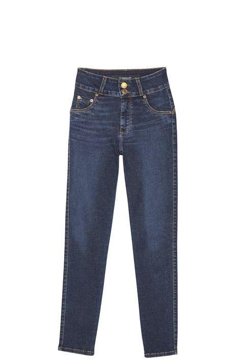 Calca-Jeans-Escuro-com-Cintura-Alta-Detalhe-Still--