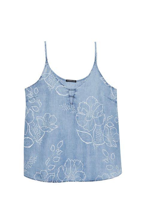 Regata-Jeans-com-Estampa-Floral-Feminina-Detalhe-Still--