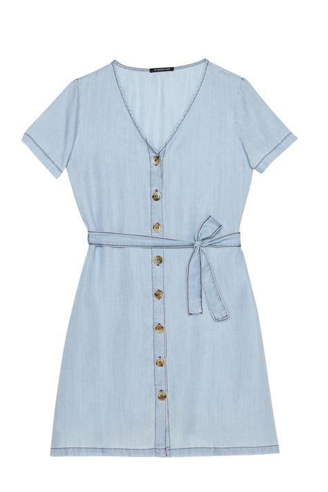 Vestido-Jeans-Claro-com-Amarracao-Detalhe-Still--