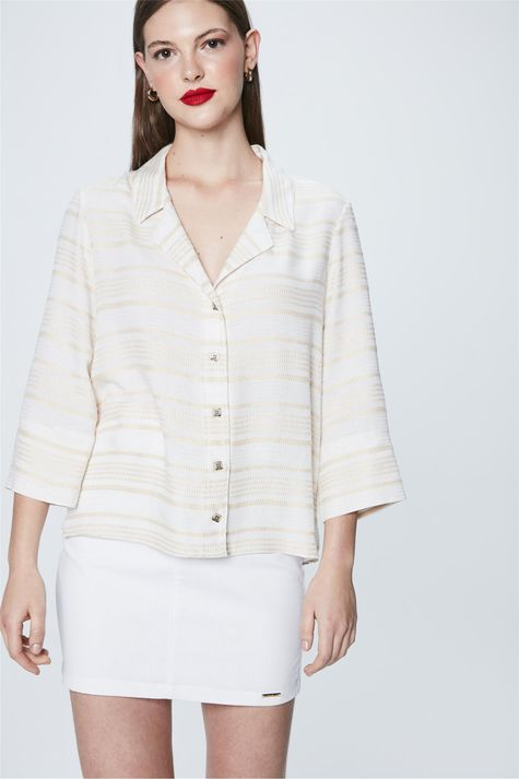 Camisa-Mangas-3-4-Listrada-Feminina-Frente--