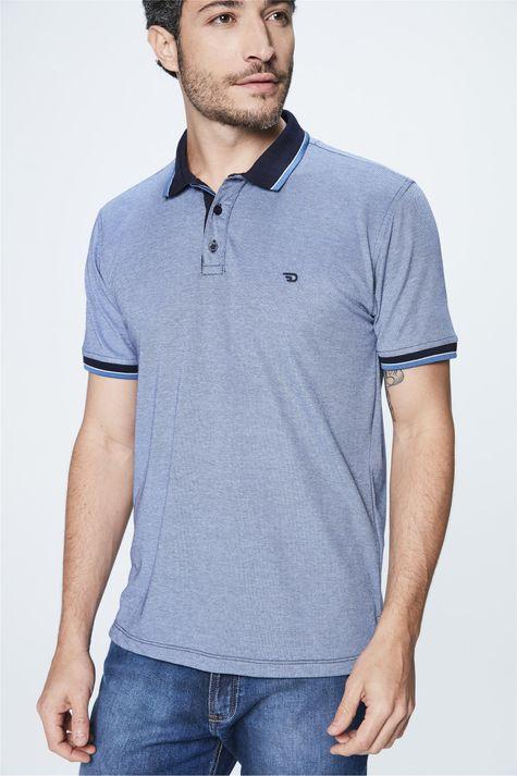 Camisa-Polo-Azul-Masculina-Costas--
