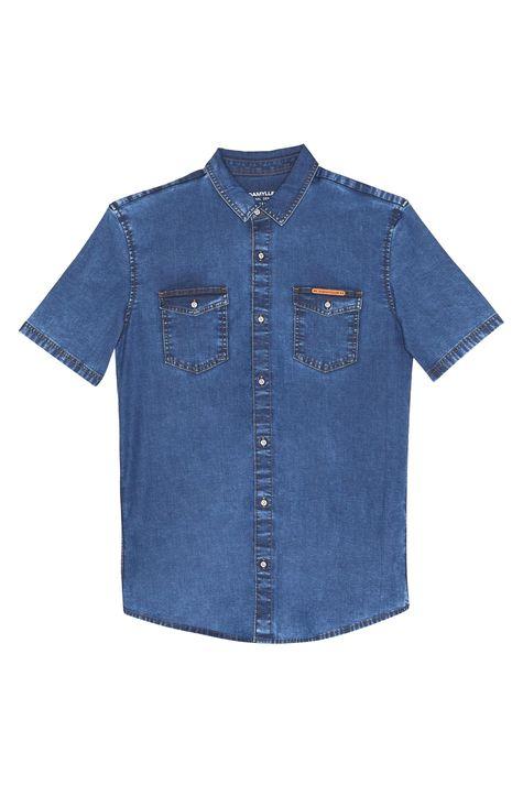 Camisa-Jeans-de-Manga-Curta-Masculina-Detalhe-Still--