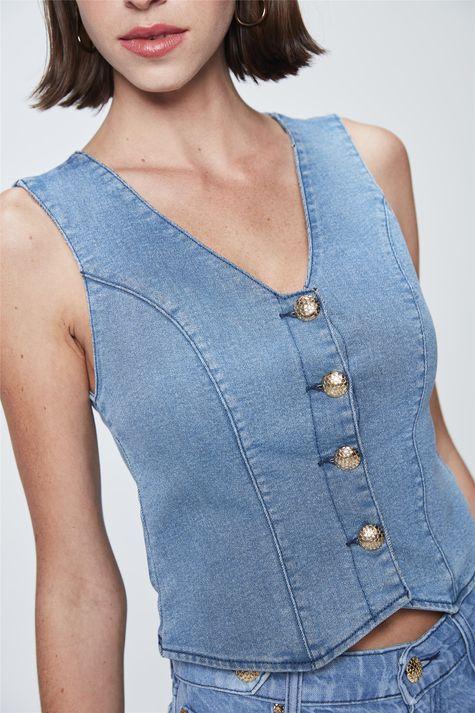 Top-Cropped-Jeans-de-Botoes-Detalhe--