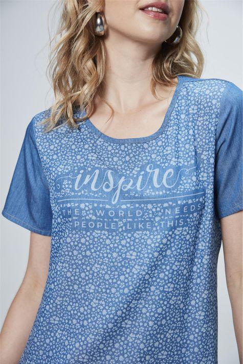 Camiseta-Jeans-com-Estampa-Inspire-Detalhe--