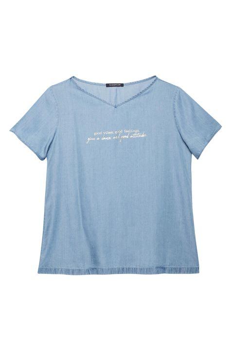Camiseta-Jeans-com-Estampa-Good-Vibes-Detalhe-Still--