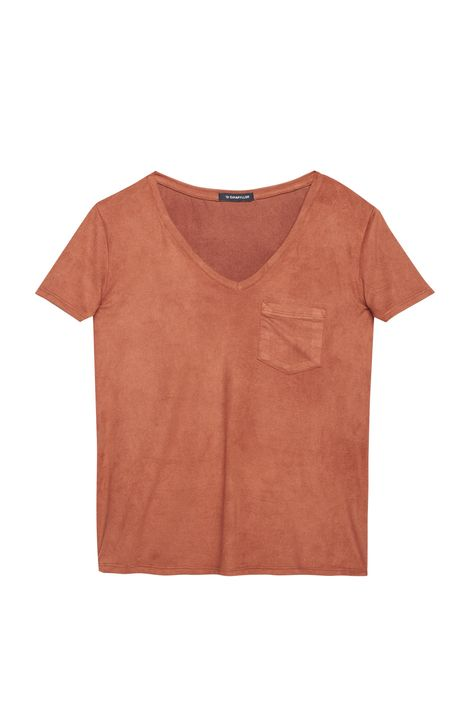 Camiseta-Gola-V-de-Suede-Feminina-Detalhe-Still--