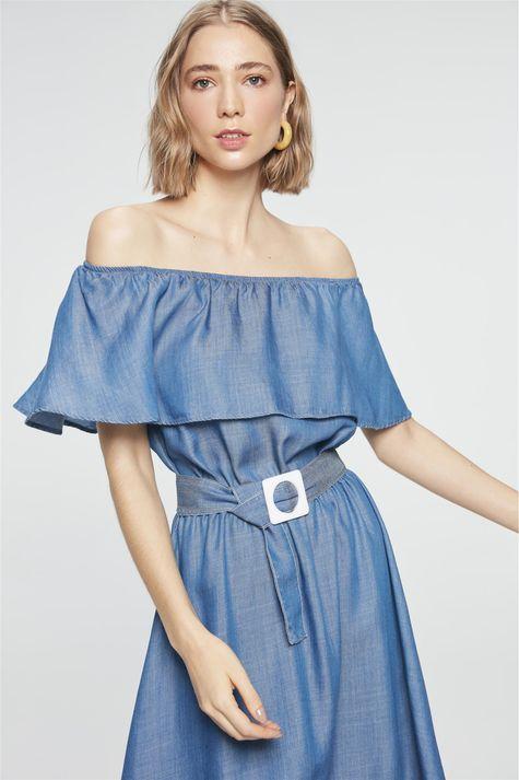 Vestido-Jeans-Azul-Royal-Midi-Frente--