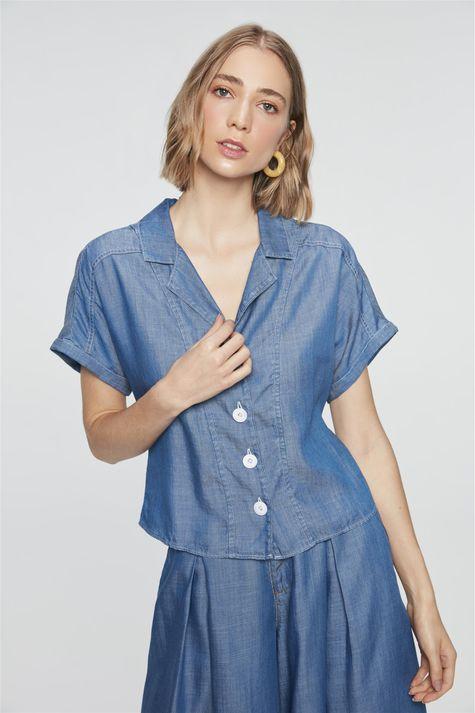 Camisa-Jeans-Azul-Royal-Feminina-Costas--