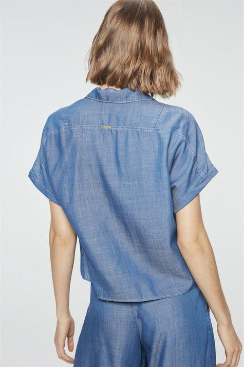 Camisa-Jeans-Azul-Royal-Feminina-Detalhe--