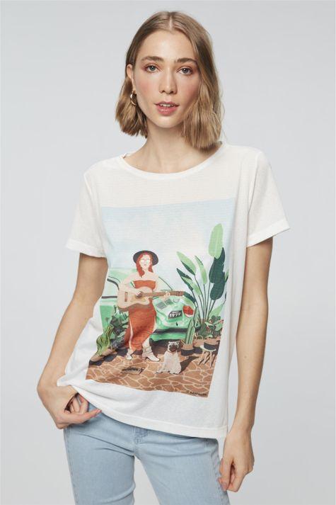 Camiseta-com-Estampa-Mulher-com-Cachorro-Costas--