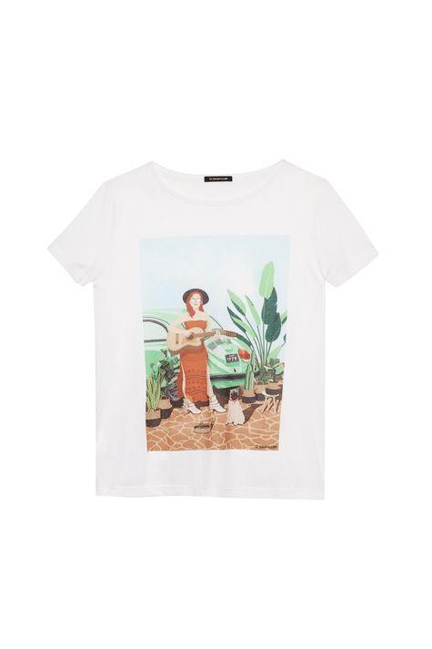 Camiseta-com-Estampa-Mulher-com-Cachorro-Detalhe-Still--