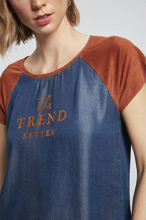 Camiseta-Jeans-com-Suede-Feminina-Frente--